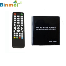 Binmer Mecall 1080P Mini HDD Media Player MKV/H.264/RMVB HD with HOST USB/SD Card Reader