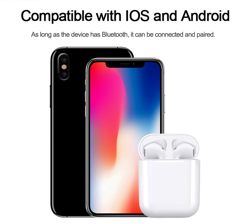 2018 New IFAN I9 Bluetooth Mini Double ear Earbuds Earphone Wireless Air Headsets pods with mic for IPhone 8 7 Plus 6 6s Android (26)