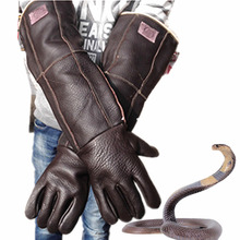 Anti bite gloves 60cm safety long gloves high quality for catch animal like dog,cat,reptile,snake Pets random color delivery(China)