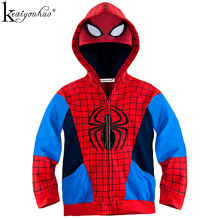 KEAIYOUHUO 2017 Spring And Autumn Boys Jackets Fashion Boys Spiderman Coats For Children Jacket Spiderman Outerwear Kids Clothes