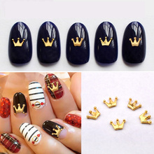 10pcs New Gold Metal CROWN Nail Art Decoration DIY Beauty Jewelry 3d Design Alloy Nail Accessories