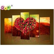 DPF diamond Вышивка Роза любви Вышивка с кристаллами изображение Стразы полный квадратный Алмазная мозаика цветок(China)