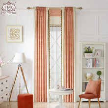 Striped Printed Curtains Bedroom Ready Made Window Panel Curtains Living Room Modern Fabric Drapes Orange Luxury Custom Blinds(China)