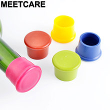 MEETCARE 5pcs Food Grade Silicone Ketchup Bottle Cap Plastic Stopper for Kitchen Bar Beverage cola Condiment Sauce Bottle(China)