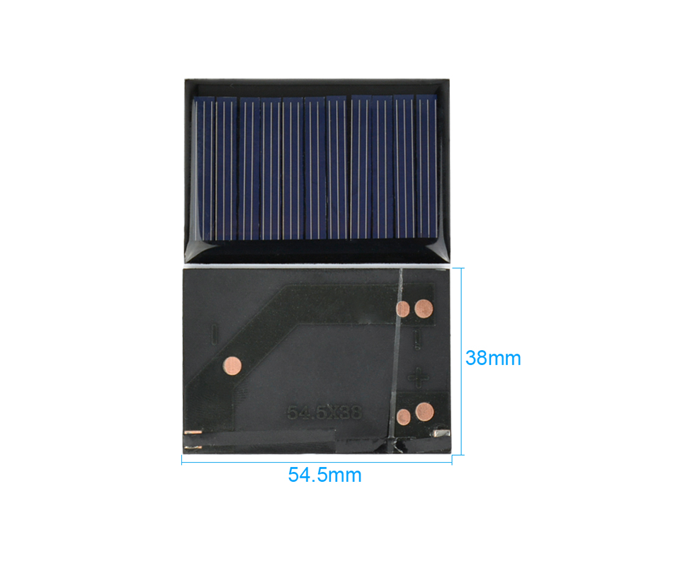 Aoshike 10Pcs Solar Panels Polycrystalline Silicon Flexible Solar Power Charger 5.5V 0.22W 54.5x38mm DIY Portable Solar cells 3