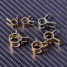 10X Spring Band Clip Vacuum Fuel Hose Line Silicone Pipe Tube Band Clamps Fastener for Harley Honda Bobber Suzuki Motorcycle ATV