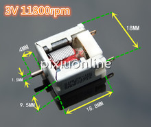 1pc K809 Bare Micro DC Motor Visible Rotor Roll Track No-load Speed 11800prm Free Shipping Russia