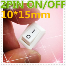 10pcs G134 White 2PIN 10*15mm SPST ON/OFF Boat Rocker Switch 3A/250V Car Dash Dashboard Truck RV ATV Home  Sell At A Loss USA