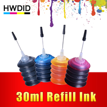 4 Pcs Universal 30ml dye ink K C M Y Refill Ink kit  For HP Canon Brother Epson Lexmark DELL Kodak printer ink Cartridge