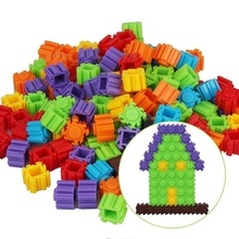 Hot! 200 Pcs/Set Multicolor Plastic Building Kids Baby Toy Puzzle Educational Learning Developmental Toy Brain Game New Sale