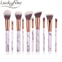 2017 Makeup Brushes Set 10pcs 5pcs Pro Marbling Marmor Design Handle Cosmetic Foundation Powder Eyeshadow Contour Brush Kits