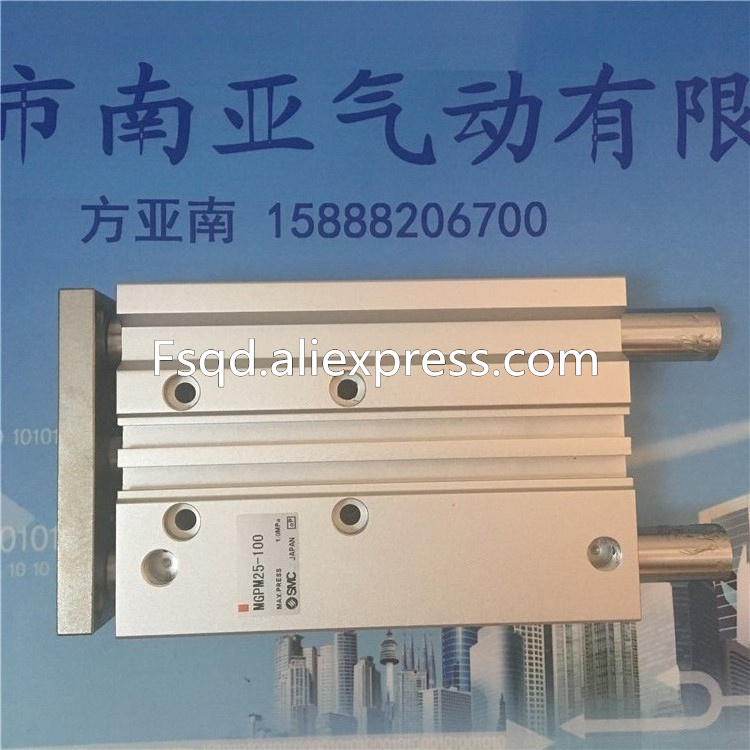 MGPM25-75 MGPM25-100 MGPM25-125   SMC compact guide cylinder Thin Three-axis cylinder with rod cylinder MGPM series<br>