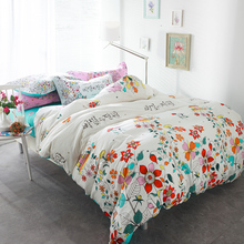 100% Cotton secret garden quilt bedding sets 4/5pcs woven floral comforter duvet cover queen full size kids bed sheet bedspreads