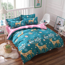 Bedding Sets Young 3pcs/4pcs Duvet Cover Flat Sheet Pillowcase Cheap Retail Wholesale Twin Full Queen King From Place Of Origin(China)
