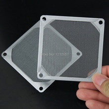2 Pieces lot 80mm PC Case Replacement Silver Tone Aluminum Dustproof Fan Filter(China)