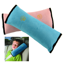 Child Kid Car Vehicle Auto Seatbelt Shoulder Safty Mini Sleeping Pink Pillow Cushion Neck Head Support Soft New(China)