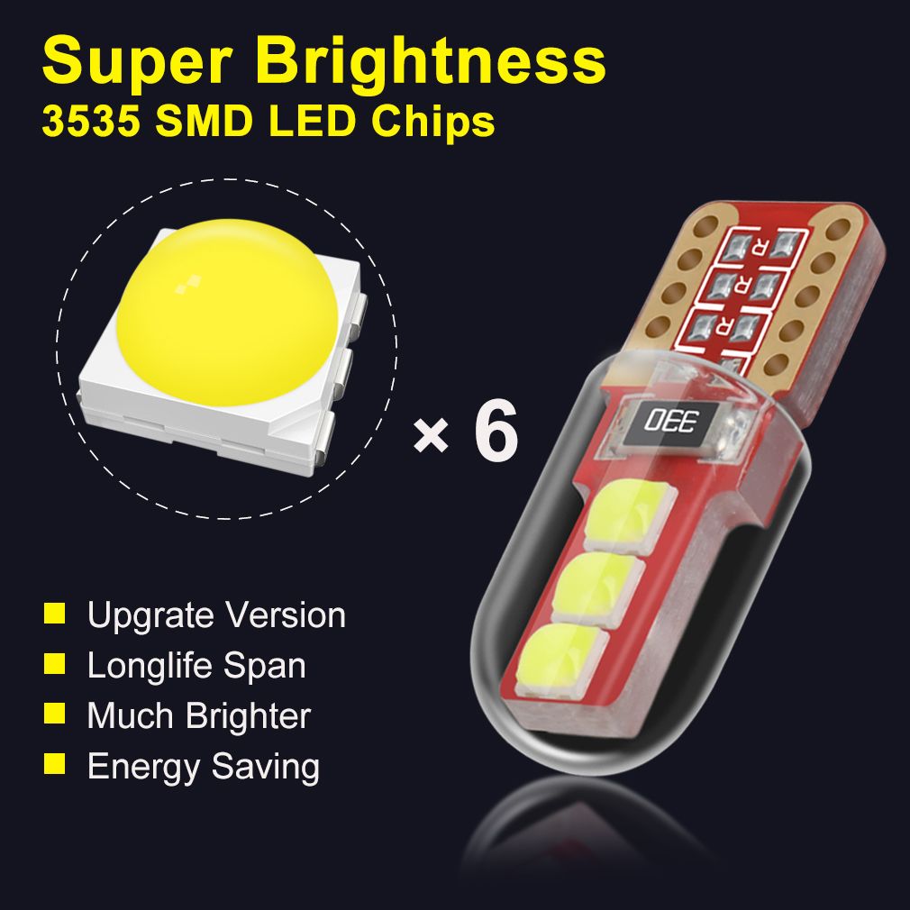 SUPER BRIGHT CREE LED XENON WHITE 6000K SIDELIGHT BULBS T10 501 W5W WEDGE PUG