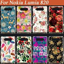 11 Patterns painting beautiful flowers case cover for nokia lumia 820 nokia 820  Case Cover Colored painted Case for lumia 820