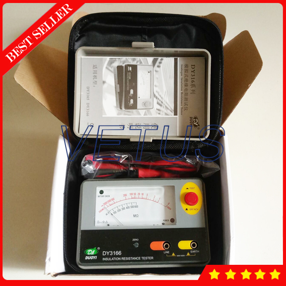 DY3166 Pointers type Insulation Resistance Tester meter with Analog Aislamiento Megger<br>