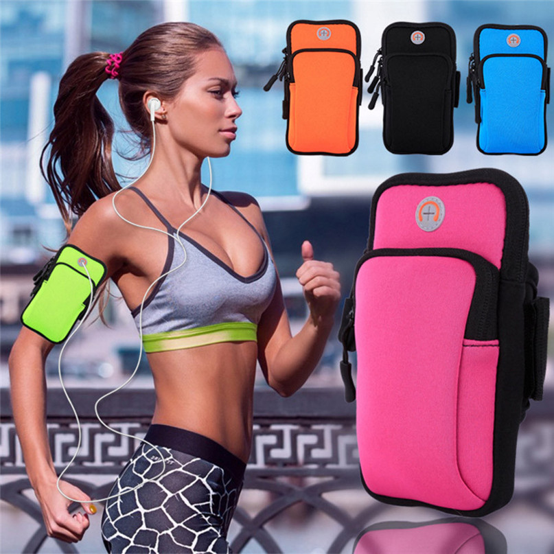 Running Arm Bag Outdoor Sports Armband Case Zippered Fitness Running Arm Band Bag Pouch Jogging Workout Cover For Mobile #3j#F (26)