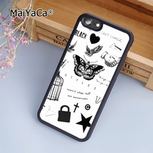 MaiYaCa harry styles tattoo fashion soft mobile cell Phone Case Cover For iPhone 6 6S Custom DIY cases luxury shell(China)