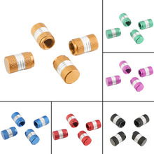 Car-styling 6 Colors Mini 4 X Aluminum Tire/Rim Valve/Wheel Air Port Dust Cover Stems Caps For Car Hot Free Shipping(China)
