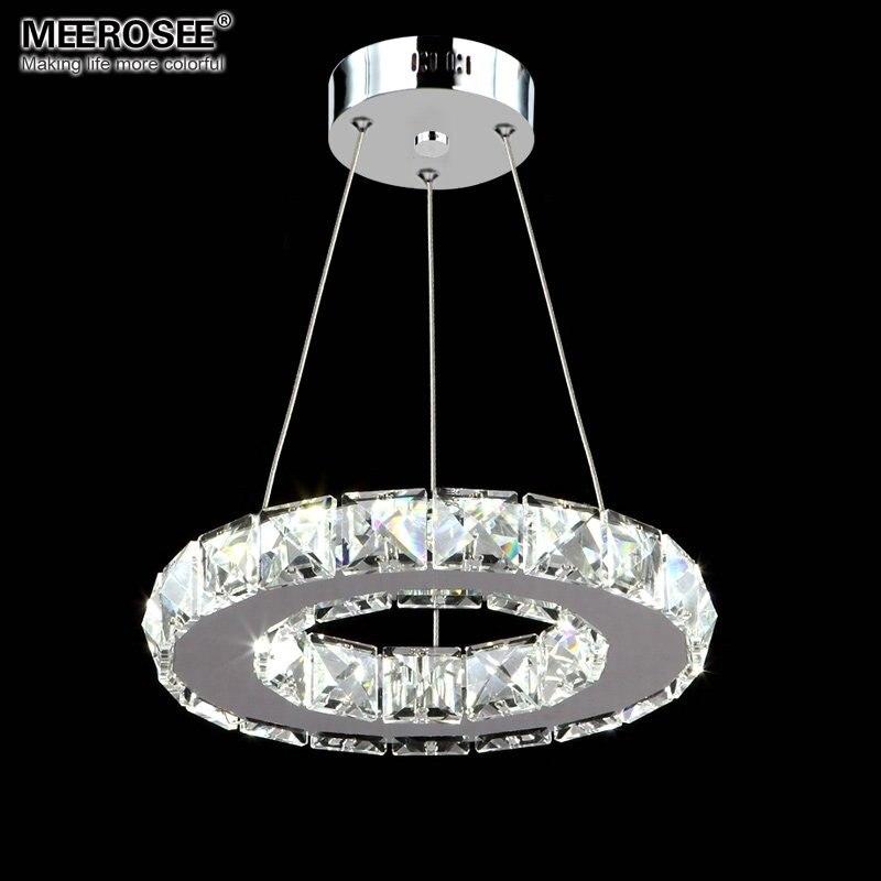 LED Crystal Pendant Light Fixture Aisle Porch Hallway Lamp Crystal Ring Lustres Hanging Lighting 100% Guarantee<br>