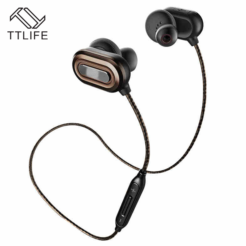 TTLIFE Bluetooth Earphones Wireless Stereo Sweatproof Headphone with Mic CSR8645 Noise Cancelling AptX Earbuds for all phone<br>