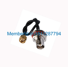 Top Brand RF Coaxial cable assembly SMA male to BNC Jack bulkhead O-ring RG174 20CM(China)