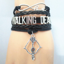 SANDEI fashion Infinity Love WALKING DEAD Bracelet Customize Wristband friendship Bracelets B09013(China)
