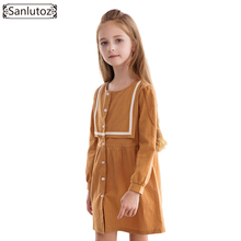 Sanlutoz Winter Girls Dress Party Kids Clothes Princess Children Clothing 2017 Toddler New Fashion Brand Wedding Birthday(China)