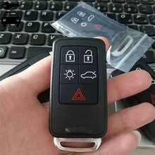 Free Shipping 5 Buttons Car Intelligent Remote Key Alarm 433Mhz With ID46 Chip For Volvo XC60 XC70 S60 S80 V60 Smart Key Card(China)