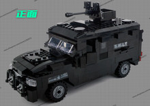 Police station SWAT Armored car jeep Military Series6509 3D Model building blocks compatible with lego city Boy Toy hobbies Gift