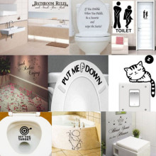40Pcs DOWNLOADING Funny Toilet Decal Wall Mural Art Decor Funny Bathroom Sticker Gift  wall stickers muraux for rooms carstyling