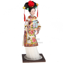"2016 Christmas New year decoration for home Amazing 12"" Chinese craft Ancient Chinse Princess doll New Year gifts(China)"