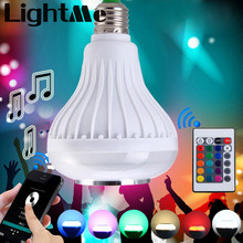 2016 E27 Light Bulb Intelligent Colorful LED Lamp Bluetooth 3.0 Speaker for Home Stage Energy Saving LED Light Bulbs 1433895