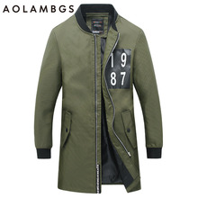 Men Jacket Fashion Casual Medium Long Jackets Slim Fit Korean Style Clothing Coat 2016 Fall New Plus Size 4XL 5XL Zipper Outwear