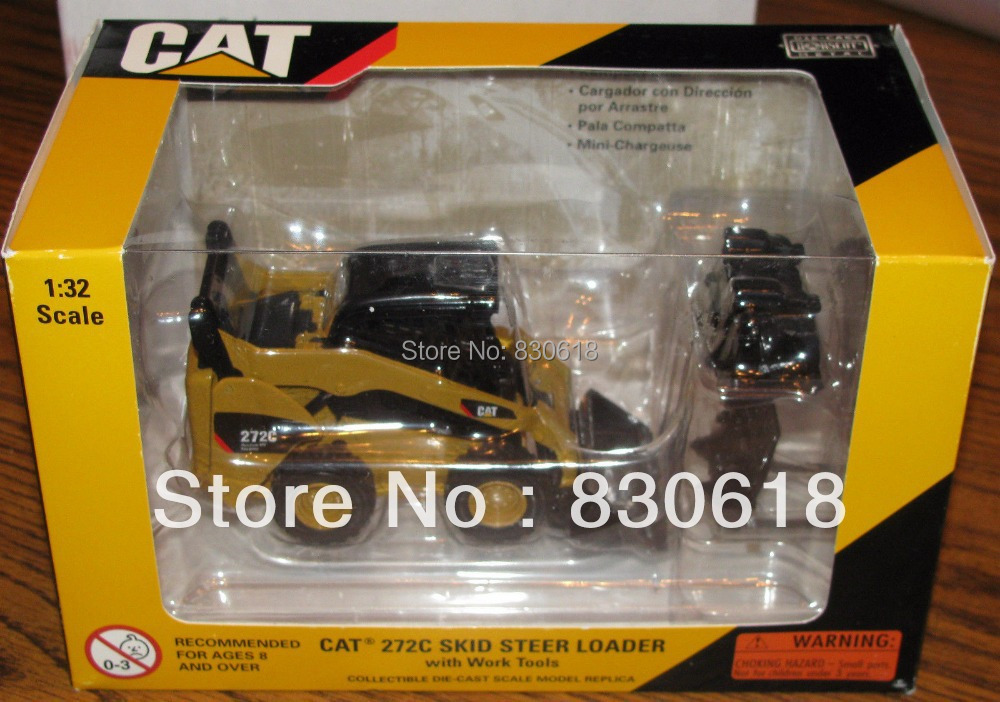 Caterpillar 272C Skid Steer Loader w/ Work Tools 1/32 Norscot Toy 2007 cat Construction vehicles toy(China (Mainland))