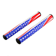 2017 Hot sale New Golf grips 2.0/3.0 high quality PU Golf putter grips U.S. Flag unique Design brand new all-weather golf grips(China)