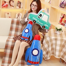 50-60cm New style car plush toy cartoon artificial rocket doll stuffed plush pillow cushion birthday gift for children