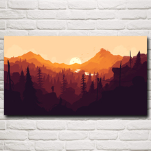 Firewatch Mountains Forest Video Games Art Silk Fabric Poster Prints Home Decor Printing 11x20 16x29 20x36 Inches Free Shipping(China)