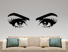 Mad World-Woman Eyes Make Up Silhouette Wall Art Stickers Art Home Decoration Wall Decal Removable Room Decor Wall Stickers