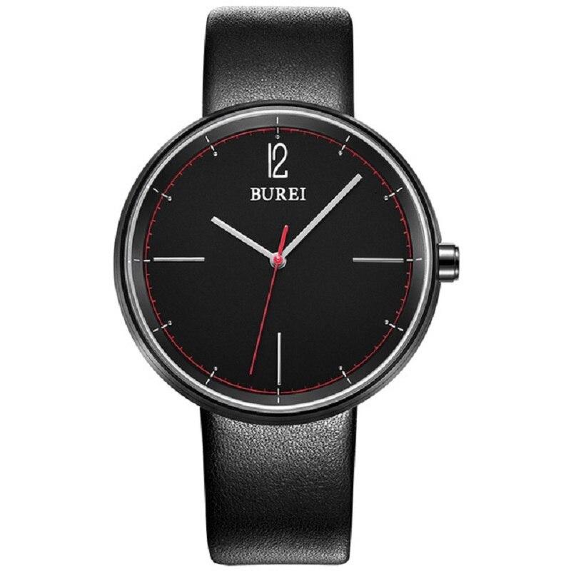 2017 BUREI Men Watches Top Brand Fashion Clock Genuine Leather Strap Casual saat erkekler Watch Waterproof Wristwatches Hot Sale<br>