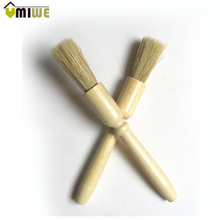 1 piece high quality natural wooden handle brush coffee machine cleaning brush household cleaning tool coffee machine cleaner(China)