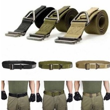 HOT Men Army Tactical Belt Military Training Nylon Belts Strap Survival Tactical Belt Emergency Rescue Rigger Militaria(China)
