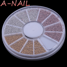 3 Colors 1mm Golden Silver Tiny Caviar Beads Wheel 3D Nail Art Design Mini Circle Ball Pearl Manicure Jewelry Decor Beauty Kit(China)