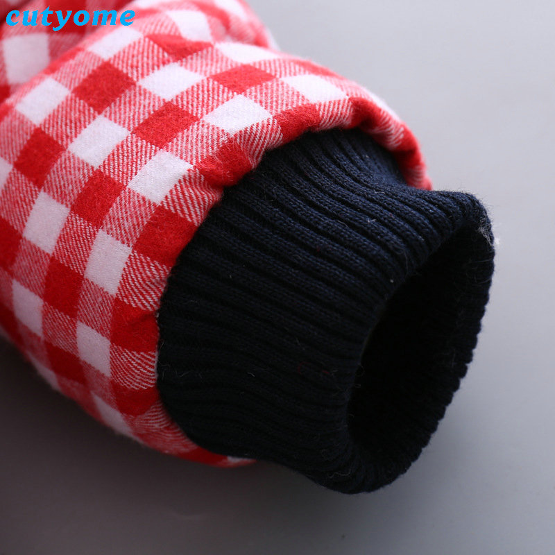 Cutyome Newborn Baby Girls Outwear Coats Hooded Plaid With Bow Cotton Winter Jackets Children Infant Padded Thick Jacket Clothes (15)