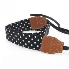 Universal Retro Polka Dots Blue Shoulder Belt Camera Strap Neck Photo Strap For Canon Nikon Sony Pentax Leica Fuji Olympus DSLR