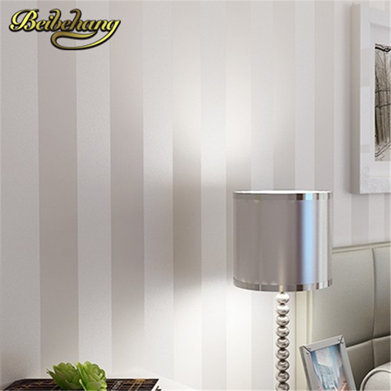 beibehang Minimalist wallpaper modern wallcovering stripe wall paper glitter non-woven background wall wallpaper for living room<br>