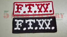 FTW Patch is embroidered Iron On Biker Patch. Harley Motorcycle Jacket Military PATCHES,VEST PATCHES